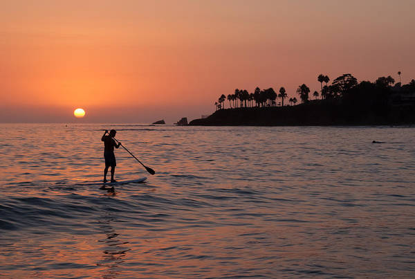 Photograph - Paddleboarding At Sunset by Cliff Wassmann