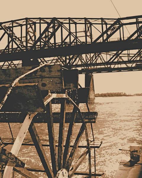 Digital Art - Paddlewheeler On The Mississippi by Lizi Beard-Ward