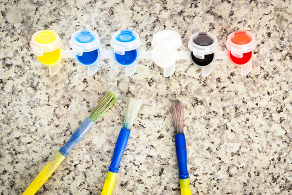 Kindergarten Photograph - Paint Brushes by Tom Gowanlock