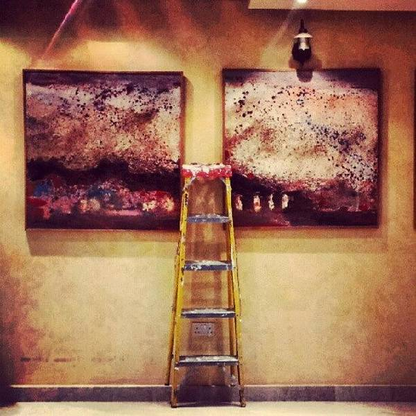 Android Wall Art - Photograph - #paint #colors #ladder #wall #jordan by Abdelrahman Alawwad