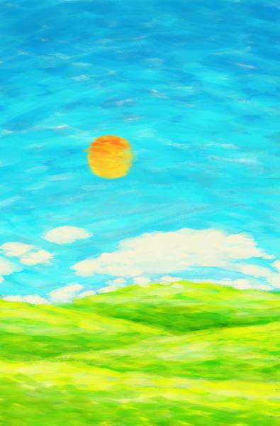 Wall Art - Painting - Painting Of Nature In Spring And Summer by Setsiri Silapasuwanchai