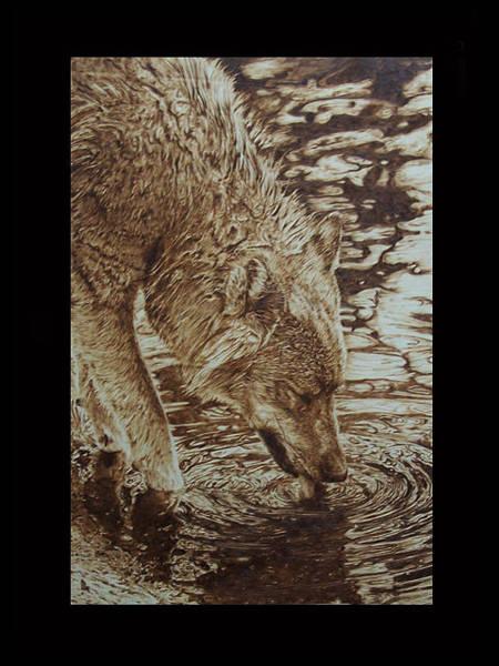 Pirografia Wall Art - Pyrography - Paiute by Davide Della Noce