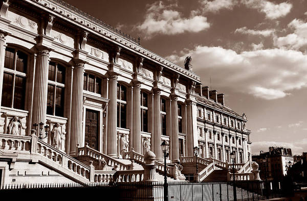 Cours Photograph - Palace Of Justice Paris by Andrew Fare