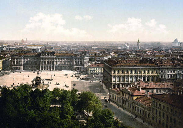 Imperial Russia Photograph - Palace Of The Imperial Council On The West Side Of St. Petersburg - Russia by International  Images