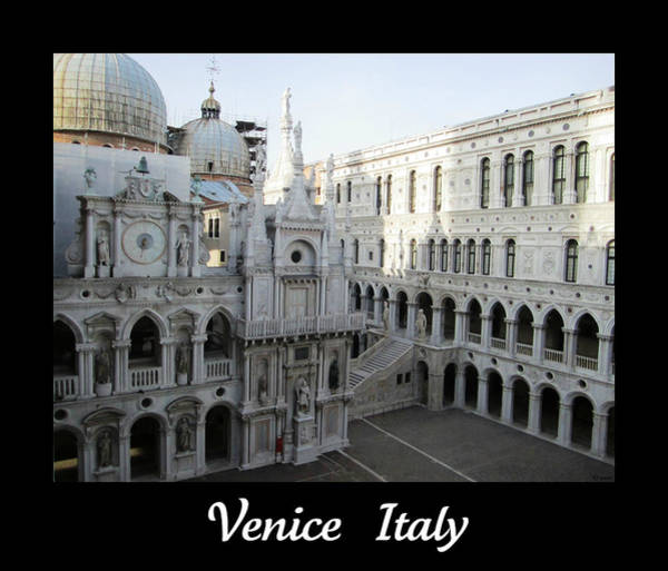 Photograph - Palazzo Ducale  Doges Palace San Marco Square  Venice  Italy by John Shiron