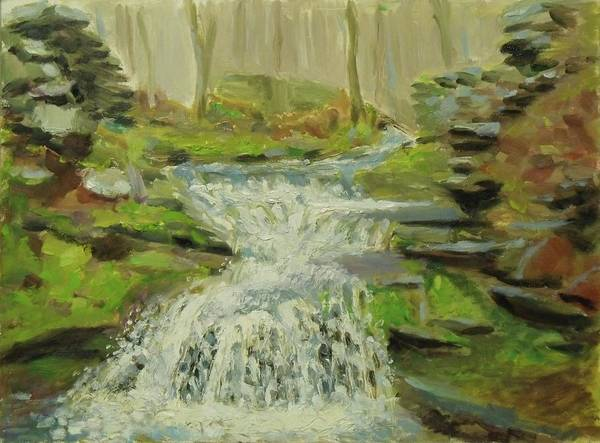 Painting - Palenville Falls Catskill by Nicolas Bouteneff