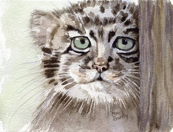 Pallas Cat Art Print