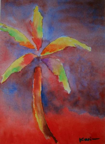 Painting - Palm Tree Series 15 by Karin Eisermann