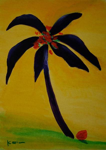 Painting - Palm Tree Series 6 by Karin Eisermann