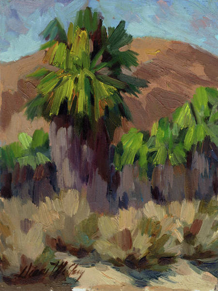 Desert Scene Painting - Palms At San Andreas by Diane McClary