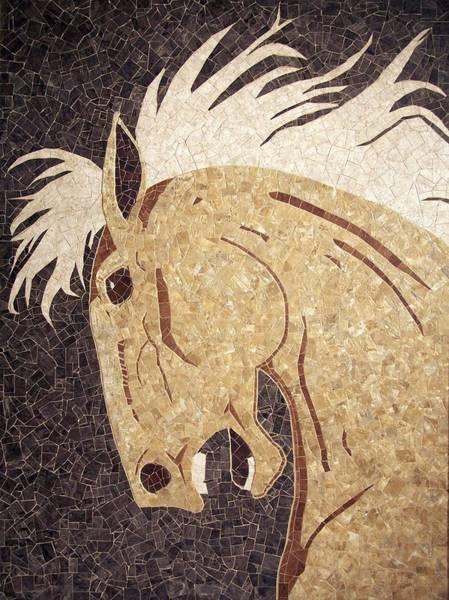 Palomino Horse Mixed Media - Palomino Charger by Angela Weddell