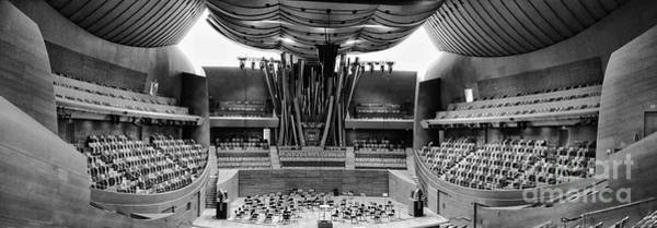 Wall Art - Photograph - Pano Bw Concert Hall by Chuck Kuhn