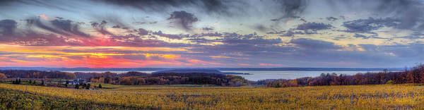 Northern Michigan Photograph - Panorama From Old Mission Peninsula by Twenty Two North Photography