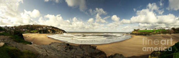 West Wales Photograph - Panorama Of Aberporth by Rob Hawkins
