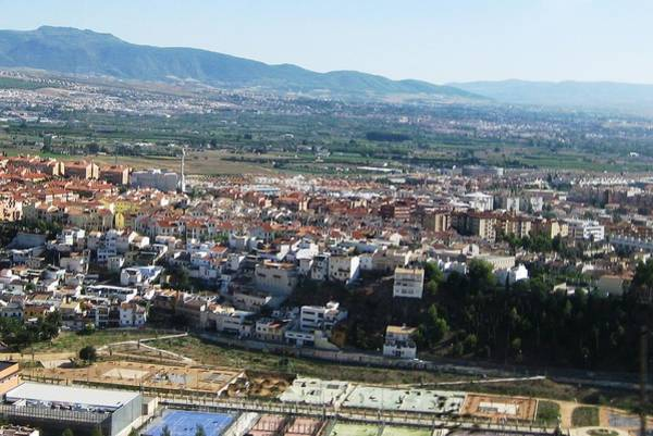 Photograph - Panoramic City And Mountain View Of Granada Spain by John Shiron