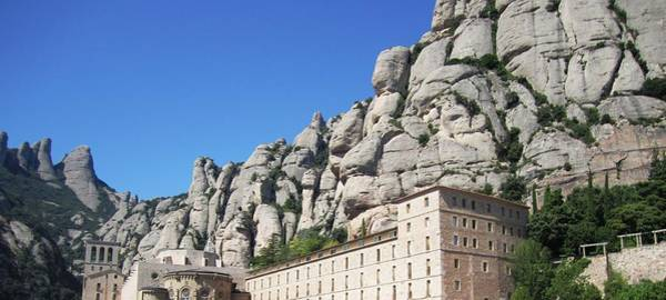 Photograph - Panoramic Montserrat Monastery Mountain Top View Near Barcelona Spain by John Shiron