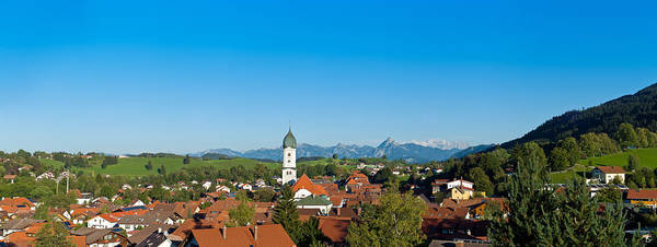 Wall Art - Photograph - Panoramic View Above The Roofs Of Pfronten Im Allgaeu by U Schade