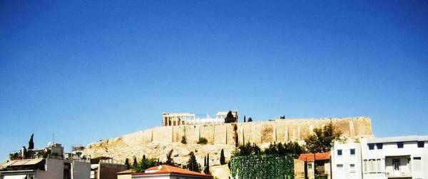 Photograph - Panoramic View Of Acropolis Parthenon In Greece by John Shiron