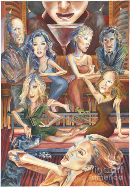Orlando Bloom Painting - Paparazzi Paradise by Lisa Hershman