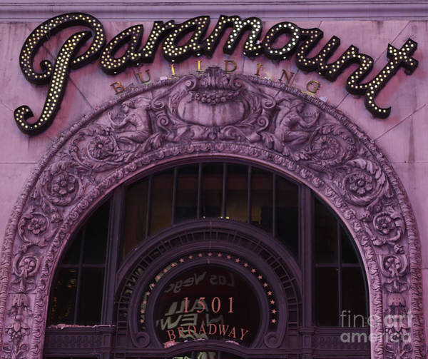 Wall Art - Photograph - Paramount Theater Times Square II by Lee Dos Santos