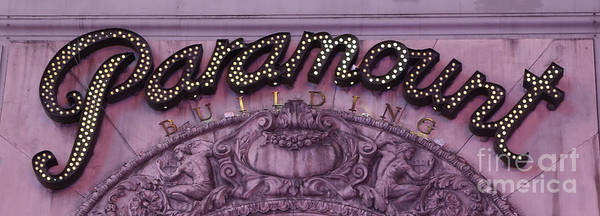 Wall Art - Photograph - Paramount Theater Times Square by Lee Dos Santos