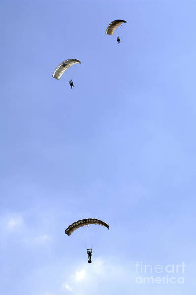 Skydiver Photograph - Paratroopers From The Pathfinder by Andrew Chittock