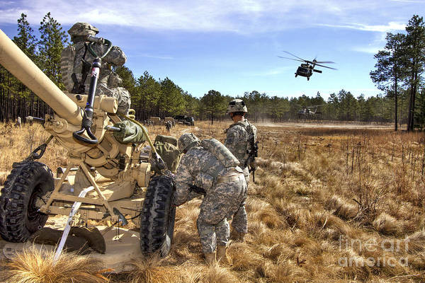 Fort Bragg Photograph - Paratroopers Prepare To Hook Up An by Stocktrek Images