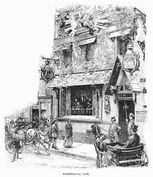 Photograph - Paris: Cafe, 1889 by Granger