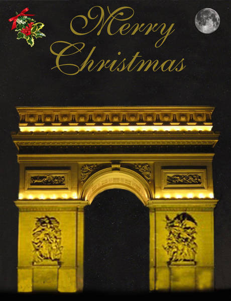 Mixed Media - Paris Christmas Fashion  by Eric Kempson