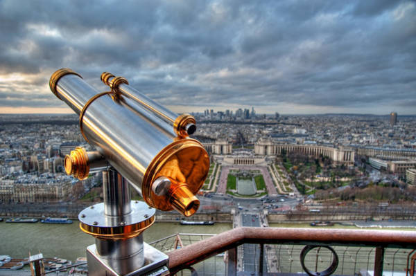 Surveillance Wall Art - Photograph - Paris Cityscape by Romain Villa Photographe