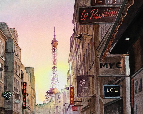 Painting - Paris Eiffel Tower by Irina Sztukowski