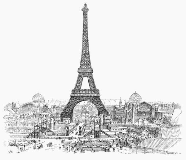 Photograph - Paris Exhibition, 1889 by Granger