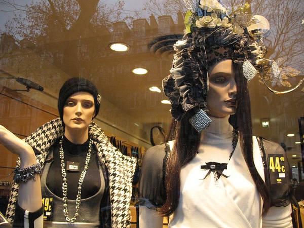 Window Shopping Photograph - Paris Avante Garde High Fashion Mannequin Art Deco Window Display by Kathy Fornal
