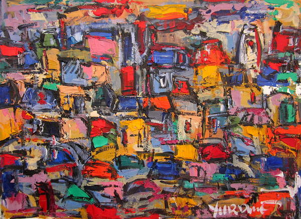 Russian Impressionism Wall Art - Painting - Paris In Colors 05 by Len Yurovsky