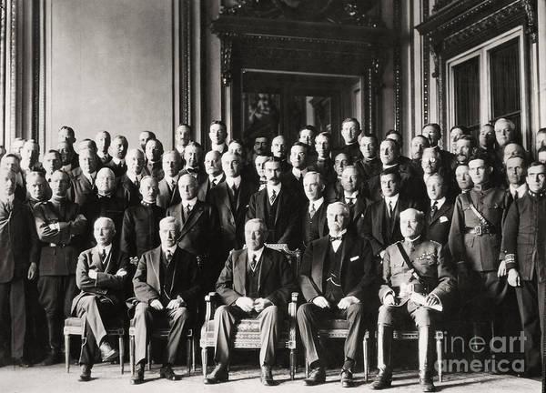 Delegation Photograph - Paris Peace Conference by Granger