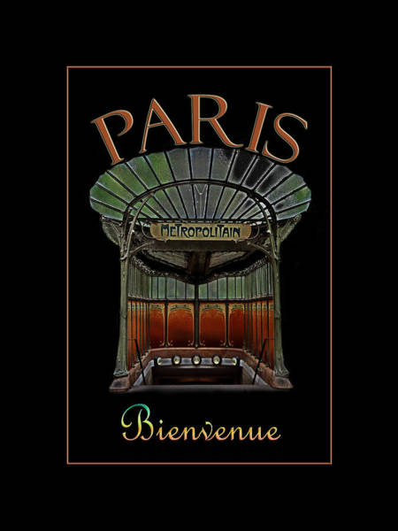 Photograph - Paris Poster Art 1 by Andrew Fare