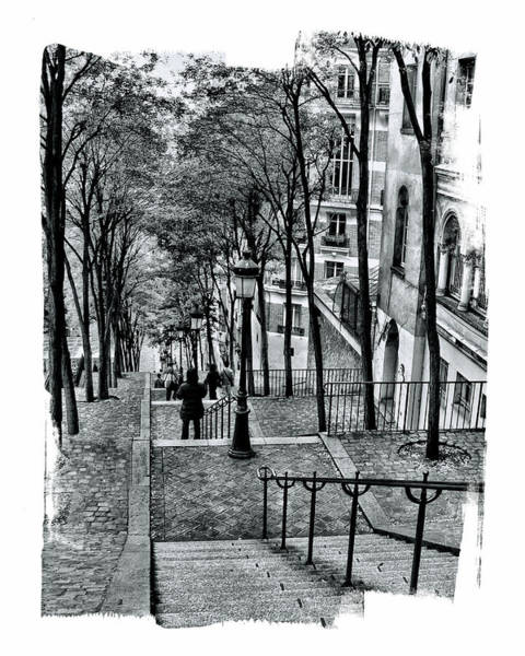 Paris Stairway Art Print
