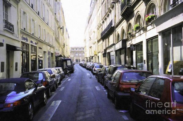 Digital Art - Paris Street by Donna L Munro