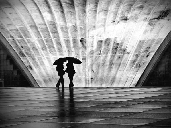 Rain Photograph - Paris Umbrella by Nina Papiorek