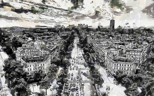 Painting - Paris Viewed From The Arc by Dean Wittle