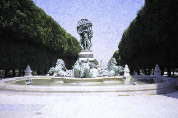Photograph - Paris Water Feature by Donna L Munro