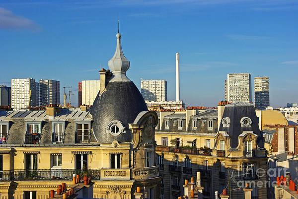 Building Wall Art - Photograph - Paris Rooftops by Zal Latzkovich