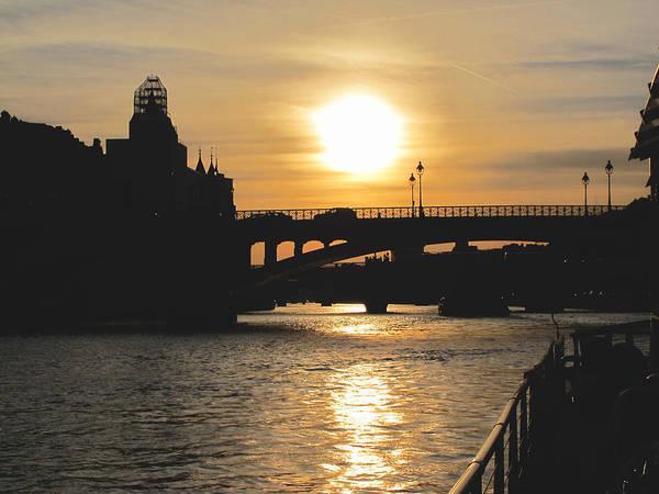 Photograph - Parisian Sunset by Kathy Corday