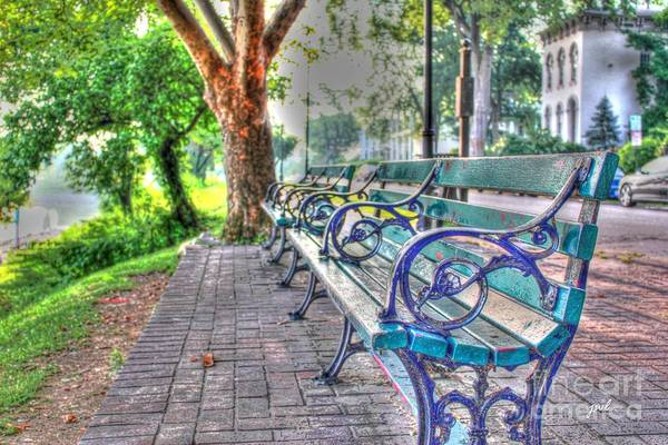 Photograph - Park Bench On Riverside Drive by Jeremy Lankford