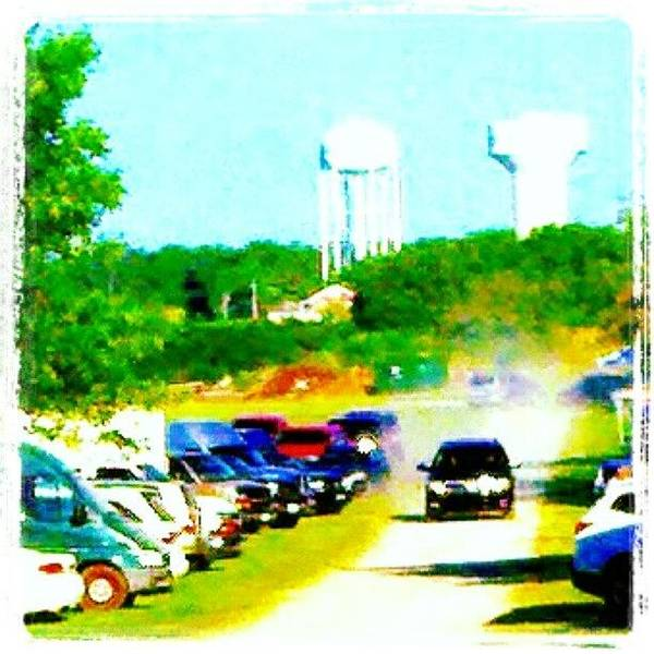 Impressionism Wall Art - Photograph - Parking Lot #android #andrography by Marianne Dow