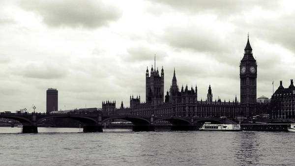 Wall Art - Photograph - Parliament From The Thames by Sharon Lisa Clarke