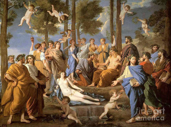 Photograph - Parnassus, Apollo And The Muses, 1635 by Photo Researchers