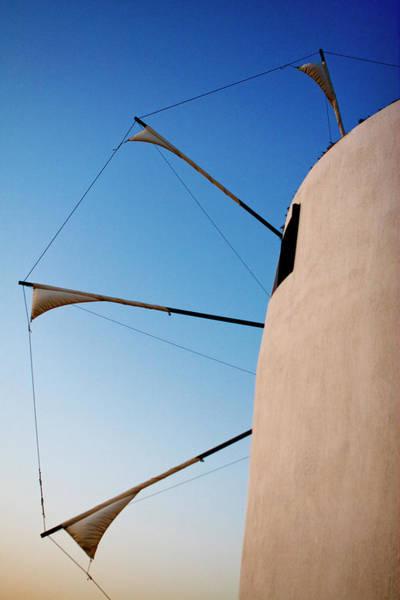 Photograph - Paros Windmill Profile by Lorraine Devon Wilke