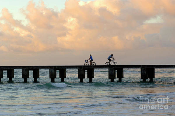 Surfboard Fence Photograph - Parting Company by Bob Christopher