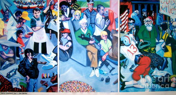 Alcoholism Painting - Party Crashers by E Dan Barker